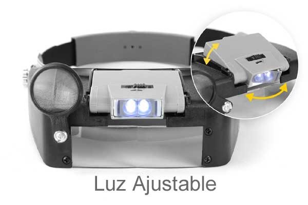 sistema led  gafas lupa pros kit